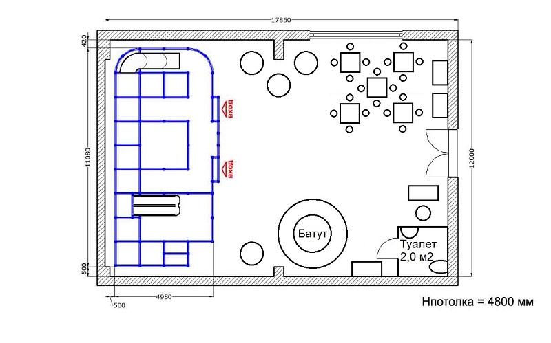 Планировка детской игровой комнаты